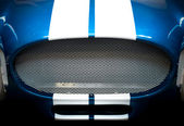 Detail of Grille of Blue and White Striped car — Stock Photo