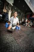 Disabled poor man on street of Vietnam, Asia. — Stock Photo