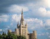 One of Moscow's famous highrises — Stock Photo