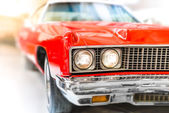 Detail of Shiny Red Classic Car — Stock Photo