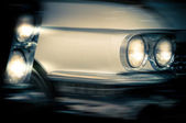 Headlights of vintage cars — Stock Photo