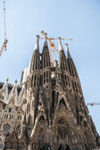 BARCELONA, SPAIN - september 15, 2014. La Sagrada Familia - the impressive cathedral designed by Gaudi — Stock Photo