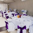 Wedding reception area ready for guests and the party — Stock Photo #65666951
