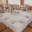 Wedding reception place ready for guests — Stock Photo #69254235