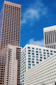 Fragment of glass facade office modern building — Stock Photo