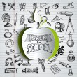 Back to school background — Stock Vector #53076299