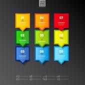 Moderne infographics opties banner — Stockvector