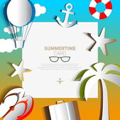 Summertime card or traveling template — Stock Vector