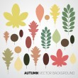 Autumn abstract floral background pattern — Stock Vector #54134003