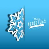 Paper cut christmas snowflake — Vector de stock