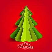 Creative paper Christmas tree — Stock Vector
