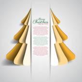 Sapin de Noël de papier créatif — Vecteur