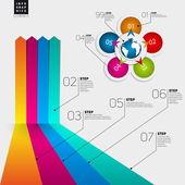 Conceptual blank minimal infographics design — Wektor stockowy