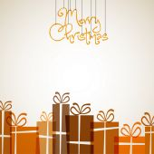 Retro napis Wesołych Świąt — Wektor stockowy