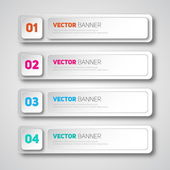 Infographic banners set — Stock Vector