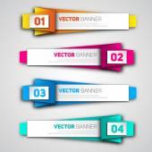 Infographic origami banners set — Stockvektor