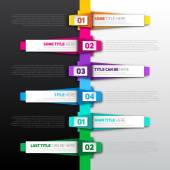Infographic timeline report — Stock Vector