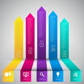 Colorful banners template for step presentation — Stockvector