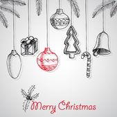 Merry Christmas poster design — Stock Vector