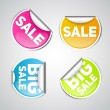 Set of sale labels and stickers — Stock Vector #65049779