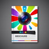 Photography book or brochure — ストックベクタ