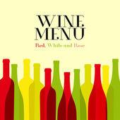 Wine list design for bar and restaurant. — Stock Vector