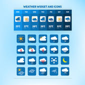 Weather set of icons — Stock Vector