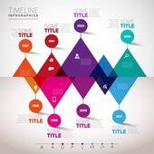 Timeline infographics design template — Stock Vector