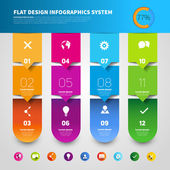 Infographic stickers with icons set — Stock Vector