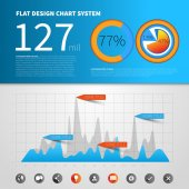 Infographic concept template — Stock Vector