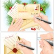 Letter to Santa. — Stock Vector #59425993