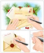 Lettera a Babbo Natale. — Vettoriale Stock