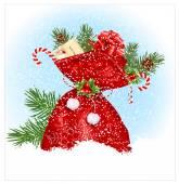 Christmas sack with presents. — Stock Vector