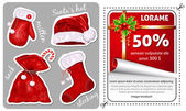 Sale Christmas stickers. — Stock Vector