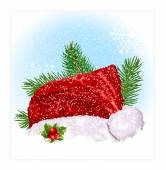 Santas Christmas hat. — Stock vektor