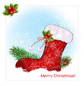 Christmas symbol stocking — Stock Vector
