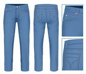 Men jeans — Stock Vector