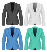 Formal work wear. Ladies suit jacket . — Stock vektor