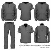 Sport men wear collection. — Stock Vector