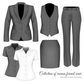 The Outfits for the Professional Business Women. — Stock Vector