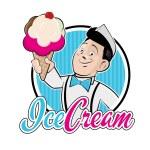 Ice cream vendor — Stock Vector #54036817