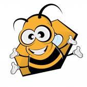 Funny cartoon bee — Stock Vector