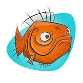 Funny cartoon goldfish — Stock Vector