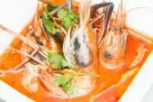 Tom yum suppe — Stockfoto