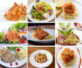 Spaghetti set — Stock Photo