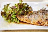 Grill Saba Fish — Stock Photo