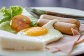 Clouse up fried egg — Stock Photo