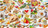 Collage of food — Stock Photo