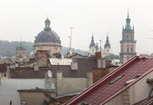 Cityscape Lviv — Stockfoto