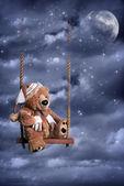 Teddy Bear In Night Sky — Stock Photo